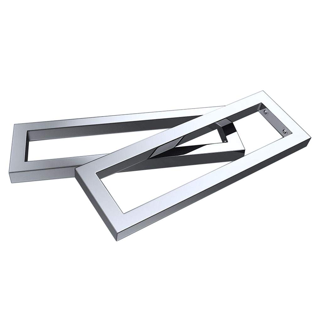 Durovin Bathrooms Pair of Stainless Steel Wall Mount Shelf Support Brackets | Chrome Rectangular (450mm)