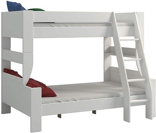 Letto A Castello In Legno Bianco.Steens For Kids Letto A Castello Legno Bianco 145 X 206 X 164