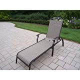 Oakland Living Cascade Sling Chaise Lounge, Coffee For Sale