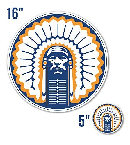 (Illinois Fighting Illini NCAA Vinyl Sticker Decal 5 Sizes Wall CornholeTruck Car №2 (17