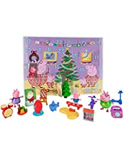 Peppa Pig Advent Calendar, 24-Piece, Featuring Fun Characters / Accessories from The World of Peppa Pig Including George, Daddy and Mummy Pig, Christmas Tree, Teddy Bear, and Other Fun Surprises