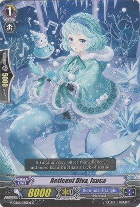 Cardfight!! Vanguard TCG - Reticent Diva, Isuca (G-CB01/030EN) - G Clan Booster 1: Academy of Divas by Bushiroad Inc.