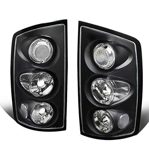 05 Dodge Ram Altezza Tail - For 2002-2006 Dodge Ram 1500/2500 / 3500 Pair Black Housing Altezza Style Tail Light Brake Lamps