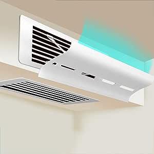 WWWJ Ventilador de Pared Deflector de dirección del Viento Que desvía el Aire, Salida del hogar Regulable Plegable Salida del Aire Registros de la Pared Lateral (Deflector de Aire frío/cálido)-H12*D5: Amazon.es: Hogar
