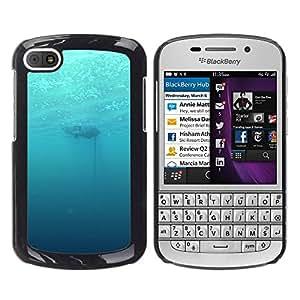EJOY---Cubierta de la caja de protección la piel dura para el / BlackBerry Q10 / --Profundo Submarino Océano