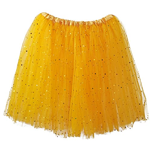 My Lello Big Girls Sparkle Tutu 3-Layer Ballerina (4T-8yr) Gold by My Lello