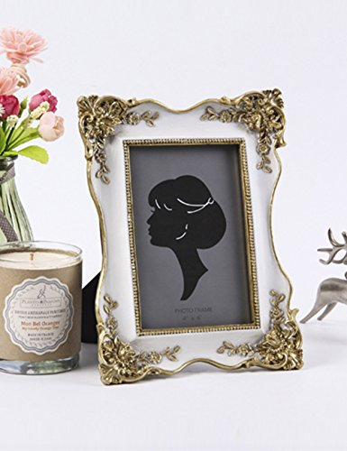 What's Fun Luxury Handmade Gold Painting Picture Frame for Photo 4 by 6 Inch (Gold Victorian Frame)