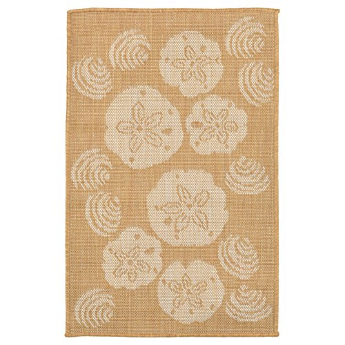 Liora Manne TER23179022 1790/22 Shell Toss Almond Rugs, Indo