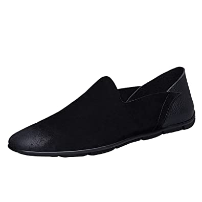 Men Penny Loafers Shoes Simple Fashion Slip-on Breathable Non-slip Shoe for Casual Driving