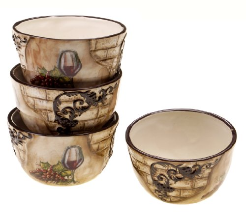 Certified International Tuscan View Ice Cream Bowl, 5.25-Inch, Set of 4 ()