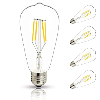 E27 LED Birne Kolben Filament Lampe Leuchtmittel Glühlampe Retro Warmweiß 4W-10W