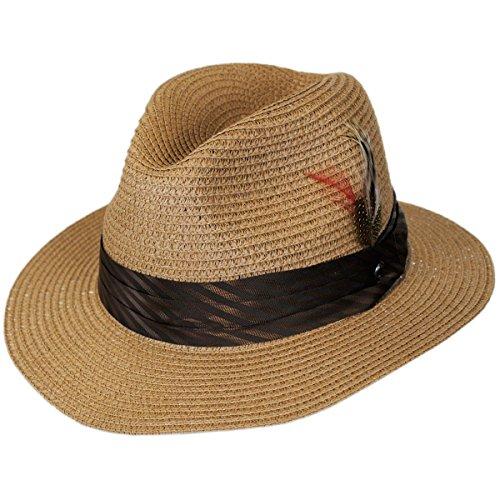 Jaxon Toyo Straw Braid Safari Fedora Hat - Wide Braid Toyo Hat