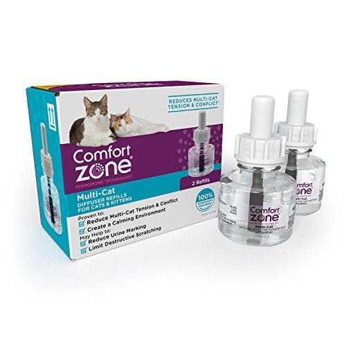 Comfort Zone Multicat Refills for Cat Calming (2 Pack) - Comfort Zone Feliway Refill