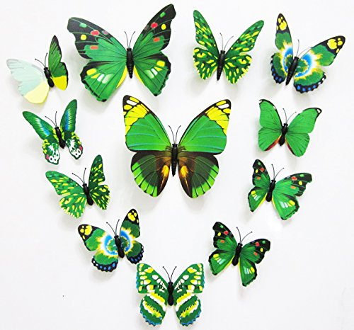 FLY SPRAY 3D Butterfly Removable Mural Wall Stickers Wall Decal For Home Decor (FBA)