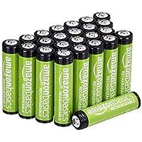 AmazonBasics AAA oplaadbare batterijen (pak van 24 stuks) 800 mAh voorgeladen