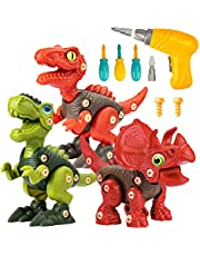 Take Apart Dinosaur Toys for 3 4 5 6 7 Year Old Boys, Dinosaur Toy for Boys STEM Construction Building Toys with Electric Drill for Birthday Easter Gifts Boys Girls