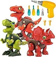 Take Apart Dinosaur Toys for 3 4 5 6 7 Year Old Boys, Dinosaur Toy for Boys STEM Construction Building Toys wi