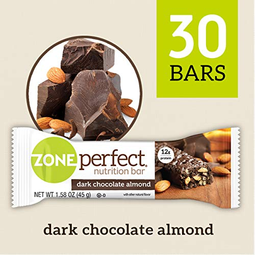ZonePerfect Nutrition Snack Bars, Dark Chocolate Almond, 1.58 oz, (30 Count) ()