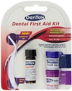 DenTek - Dental First Aid Kit - Applicator, Teeth Saver, Tooth Ache Relief