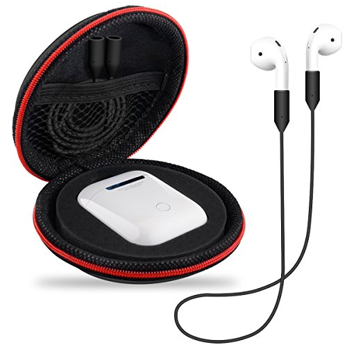 Really Bag Leather (Bepack for Headphones Case, Protective Hard Travel Carrying Cover, Shockproof Headphones Accessories Zipper Mesh Pouches Storage Bags for AirPods Case Bluetooth/Wired Headset Earphone Earbuds MP3)