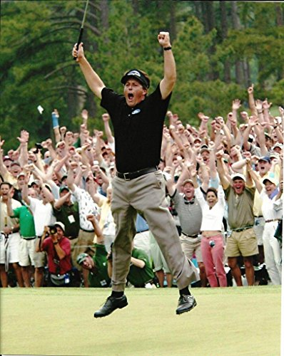 Phil Mickelson celebrating his first major by winning the 2004 Masters - 8