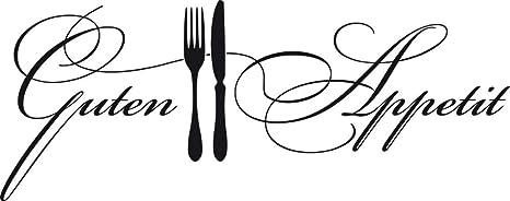 GRAZDesign Wandtattoo Küche Guten Appetit mit Besteck Küchen-Aufkleber für  Wände, Schränke, Fliesen, Möbel für Restaurant und Bars (101x40cm / 070 ...