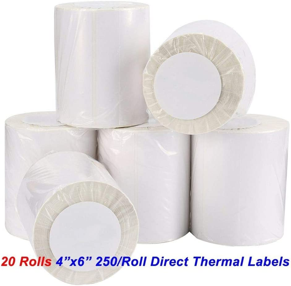 """Intermec for Zebra Eltron 1/"""" x 0.5/"""" 1/"""" Core Premium Quality Zebra Compatible Direct Thermal BPA Free 2430 labels per Roll Sato Perforated Labels with Permanent Adhesive and Curved Edges Datamax NEX label Pr Fargo"""