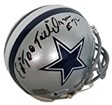 Ed Too Tall Jones Signed Dallas Cowboys Mini Helmet Beckett
