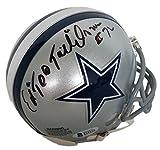 Ed Too Tall Jones Signed Dallas Cowboys Mini Helmet Beckett