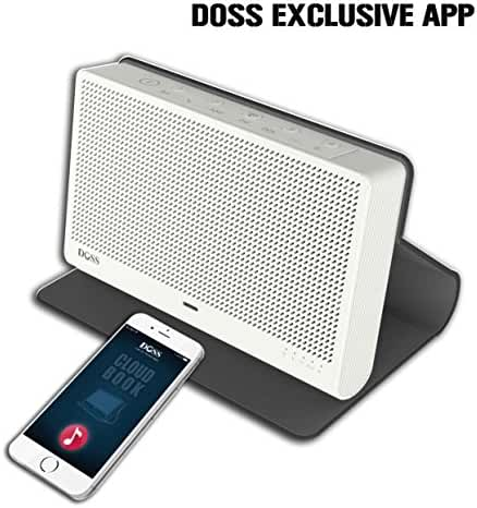 DOSS Cloud Book Wireless Portable Bluetooth 4.0 & Wi-Fi Straming Music speaker,support Pandora,Spotify,iHeart,Tuneln,Multi-room play,Built-in rechargeable battery,handsfree,12 hours play[Color:Black]