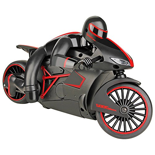 Kycola CS08 High-Speed Lighting Remote Control 2.4GHz RC Motorcycle Full Scale Electric Remote Control Off Road Motorcycle Car With LED Headlights (Red)
