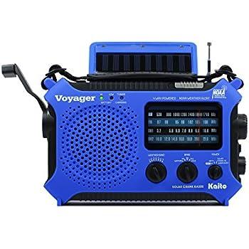 Kaito KA500BU 5-Way Powered Emergency AM/FM/SW Weather Alert Radio, Blue