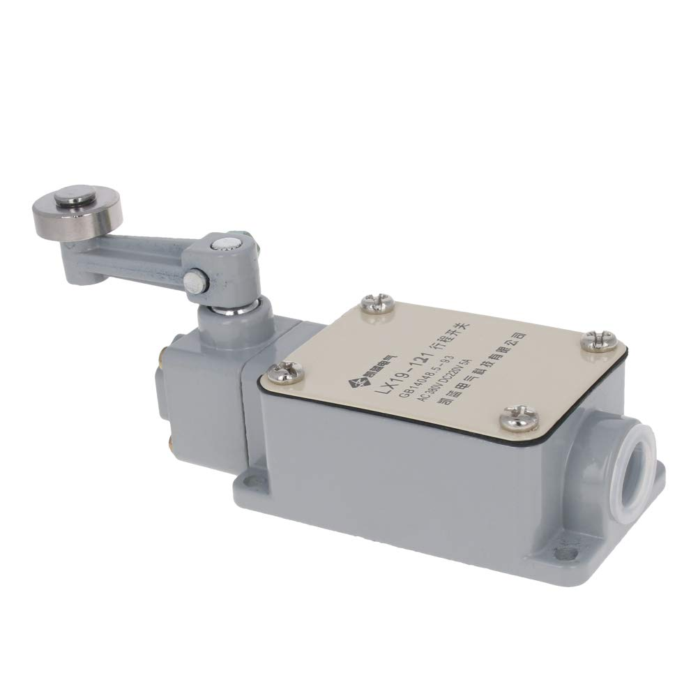 Fielect Actuator Action Rotary Roller Lever Arm Limit Switch Rotary Adjustable 1NC+1NO TZ-3104 1Pcs