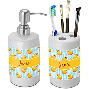 Rubber Duckie Bathroom Accessories Set (Ceramic) (Personalized)