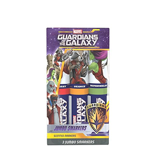 Guardians of the Galaxy: Jumbo Smarkers 3-Pack of Scented Felt Tip Markers by (Guardian Markers)