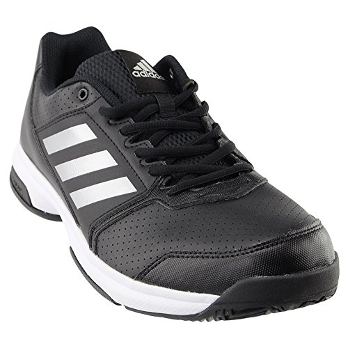adidas Men's Adizero Attack Tennis Shoes Black/Metallic Silver/White (7 M US)