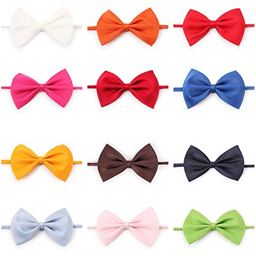 muhan 50 Pieces Kitty Cat Dog Neckties, Pet Bow Ties Tie Collar Puppy Grooming Accessories Multicolor by muhan