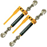 Peerless Ratchet Style Folding Handle Load Binder With 2 Grab Hooks - 18,100 lbs. Safe Working Load (For 1/2'' Grade 80 or 5/8'' Grade 80 Chain - Pack of 2)