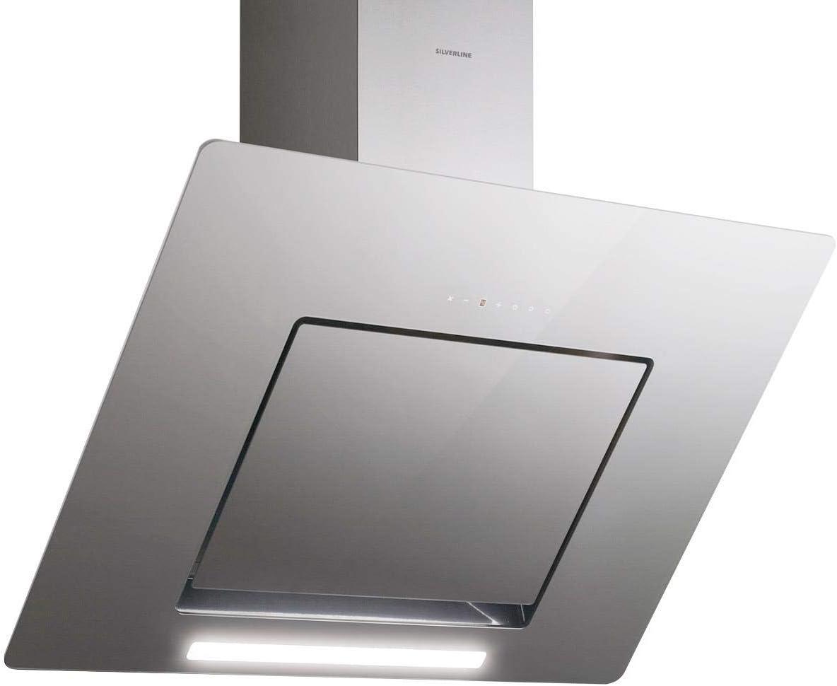 Silverline Andromeda Deluxe 8699316316725/pared Campana/acero inoxidable/cristal/gris/90 cm/cabeza libre/B: Amazon.es: Grandes electrodomésticos