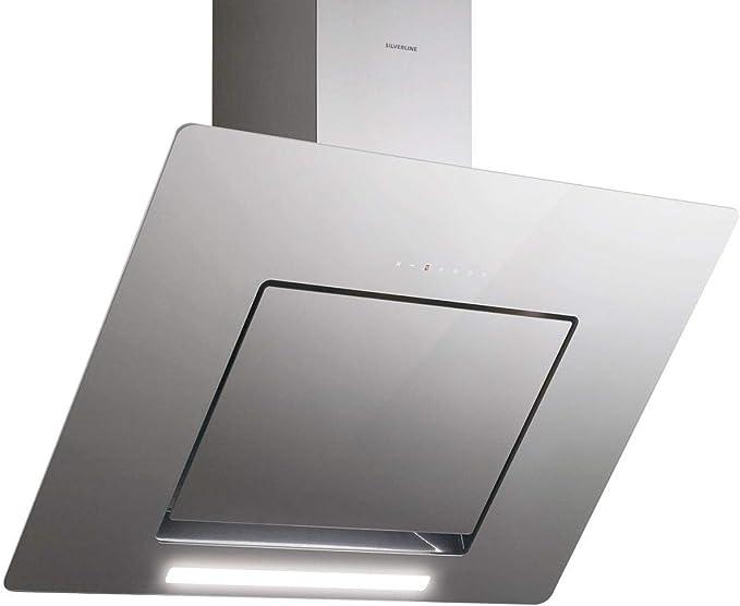 Silverline Andromeda Deluxe 8699316316725/pared Campana/acero inoxidable/ cristal/gris/90 cm/cabeza libre/B: Amazon.es: Grandes electrodomésticos