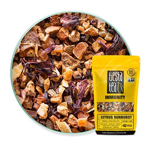 Tiesta Tea Citrus Sunburst, Tropical Citrus Fruit Tea, 30 Servings, 2.1 Ounce Pouch - Caffeine Free, Loose Leaf Herbal Tea, Immunity Blend
