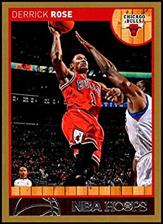 27697fee181 2013-14 Panini Hoops Gold Parallel  182 Derrick Rose NM-MT Chicago Bulls