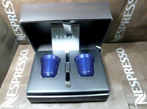 Nespresso Special Gift Set 2 Pixie Espresso kazaar Cups & Steers , In Brand Box , New