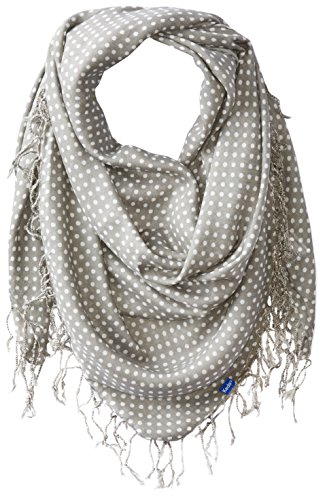 (Keds Women's Square Scarf with Fringe, Ghost Micro Dot, One Size)