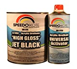 High Gloss Jet Black 2K Acrylic Urethane, 3:1 Gallon Kit w/Activator, SMR-9705-M