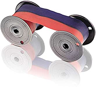 (2 Pack) Ribbon for All Lathem 2000, 2100, 3000, 4000, 8000 Series Time Clocks, Blue/Red Ink