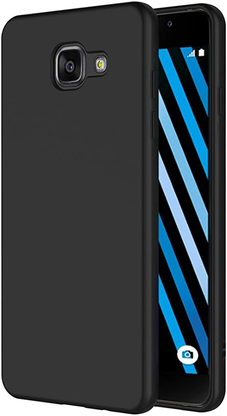 AICEK Funda Compatible Samsung Galaxy A3 2016, Negro Silicona ...