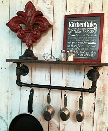 Industrial Kitchen Shelf, Rustic Kitchen Shelves Industrial Shelves, Wall  Hanging, Industrial Décor,