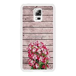 Handmade Bright Blooming Flowers Old Wood Texture Print Samsung Galaxy S5 I9600 Hard Cell Phone Plastic Case Women Customzied Kimberly Kurzendoerfer