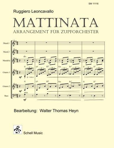Mattinata (Ruggiero Leoncavallo): Arrangement für Zupforchester (German Edition)